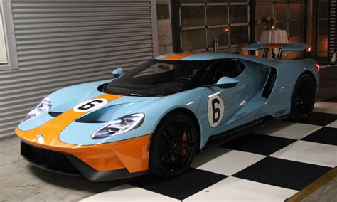 gulf ford gt gulf liveried 2018 ford gt delivered to racing driver