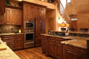 rustic cabin style traditional kitchen