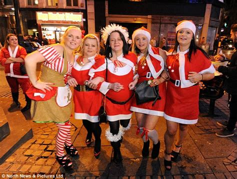 Party City Christmas Costumes - christmas party revellers hit towns across the country daily mail online