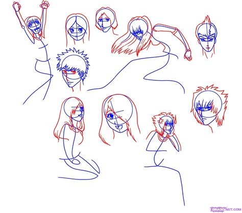 how to create doodle characters draw anime characters step by step drawing sheets added