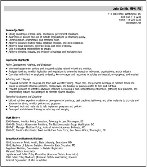 Nutrition Consultant Cover Letter by Reving Your Resume For Your Specialty Journal Of The