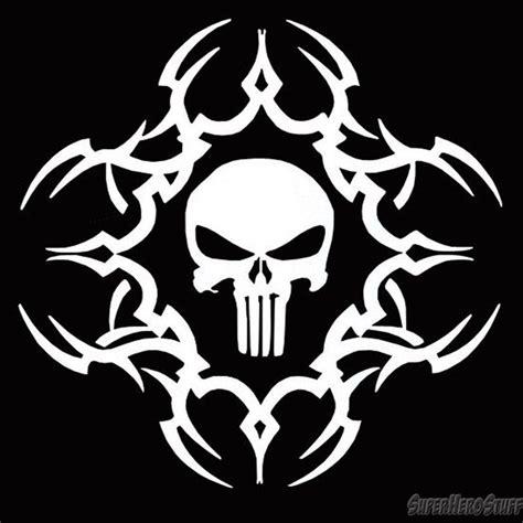 Tribal Sticker Skull by Punisher White Tribal Skull Sticker Punisher Cricut And