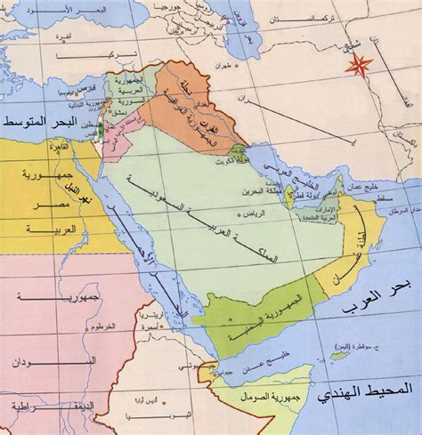 middle east map in arabic arabic without walls