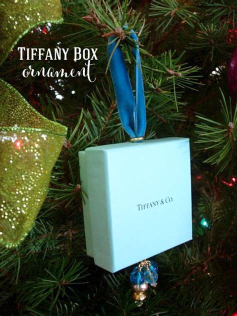 christmas tree ornament made using a tiffany box in my