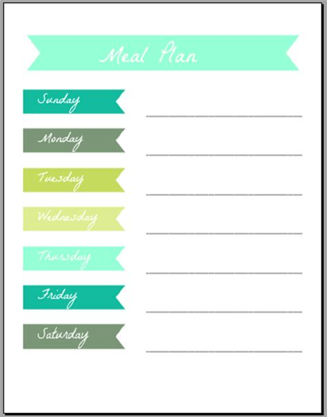 pretty printable meal planner meal plan printables taylor allan photography