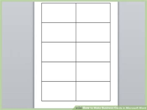 How To Make A Blank Business Card Template by Business Card Template Microsoft Word Beepmunk