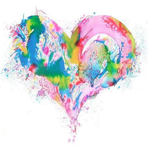 abstract heart painting www imgkid com the image kid