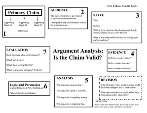 Evaluating Arguments Worksheet
