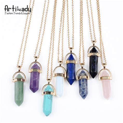 how to make quartz jewelry aliexpress buy artilady gold pendant