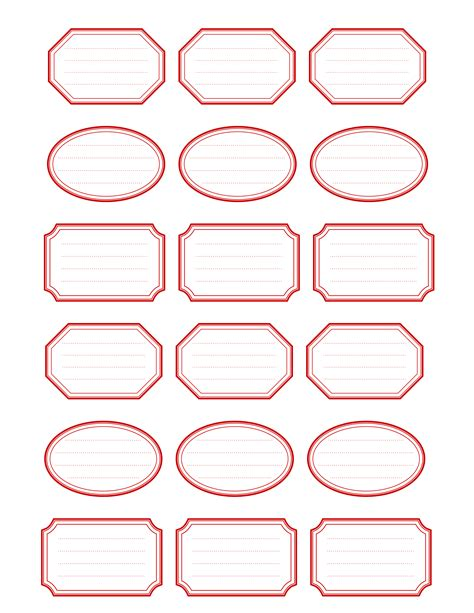 7 best images of free printable labels 1 oval label free