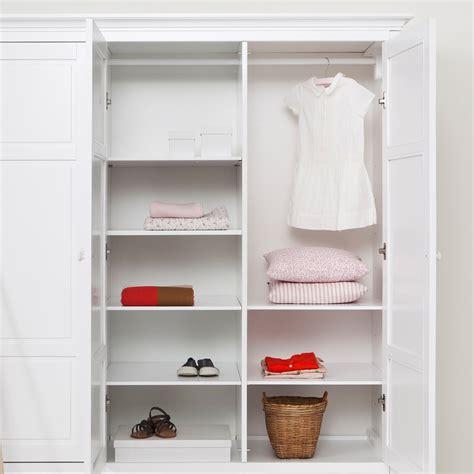 Childrens Wardrobes With Shelves by Childrens Luxury 3 Door Wardrobe In White Desks Drawers
