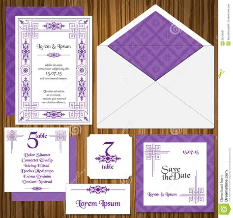 wedding sts for card wedding invitation card set royalty free stock photography