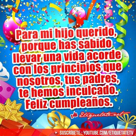 imagenes y frases de cumpleaños para mi hijo 22 best images about cumplea 209 os nene on pinterest angels