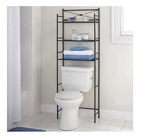 Bathroom Space Saver With Towel Bar 3 Shelf Bathroom Space Saver Storage Organizer The