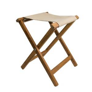 teak folding c stool canvas seat teakworks4u