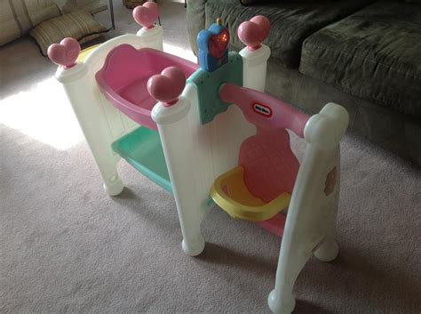 Tikes Doll Crib by Tikes Cradle Swing Highchair With Talking