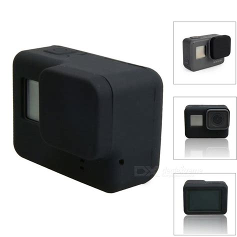 Protective Silicone For Gopro 5 Black protective silicone lens cap cover for gopro 5 black free shipping dealextreme
