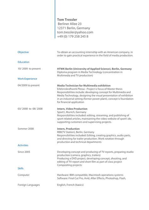 Bewerbung Englisch Cv Objective Anschreiben Bewerbung Englisch Coverletter Exle Cv Muster