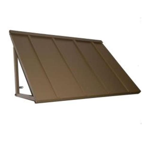 Awnings At Home Depot by Awntech S 4 Ft Houstonian Metal Standing Seam