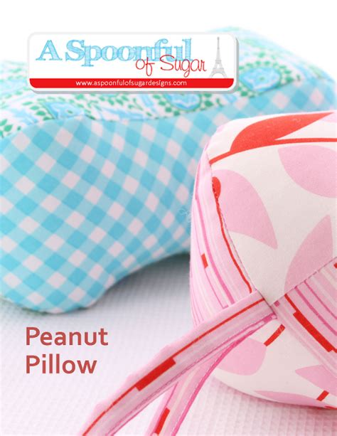 Pillow Patterns Sewing by Peanut Pillow By Aspoonfulsugar Sewing Pattern