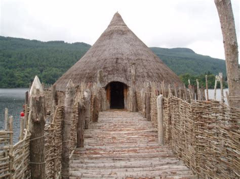 crannog ancient dwelling houses pictures and photographs