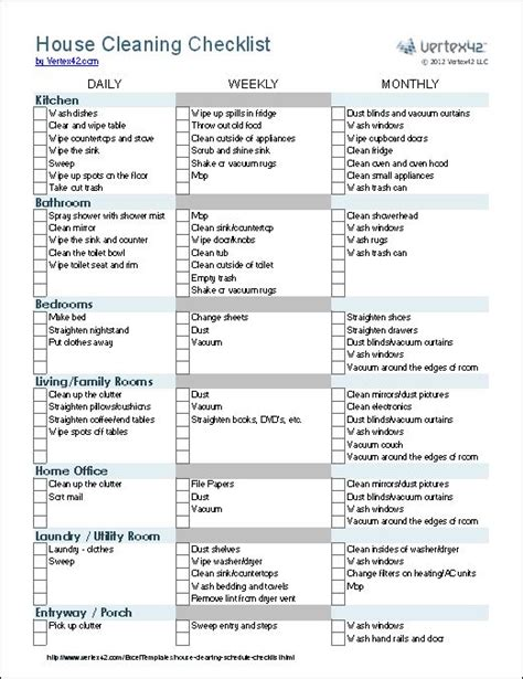 cleaning checklist a house cleaning checklist template for excel groups tasks by room and whether the task is