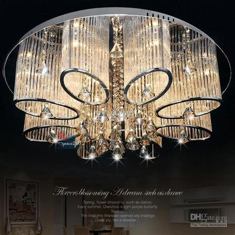 Stock In US New Modern Chandelier Living Room Ceiling Light Lamp Fixture Crystal Lighting LED