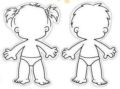 kid body outline clipart (53+)