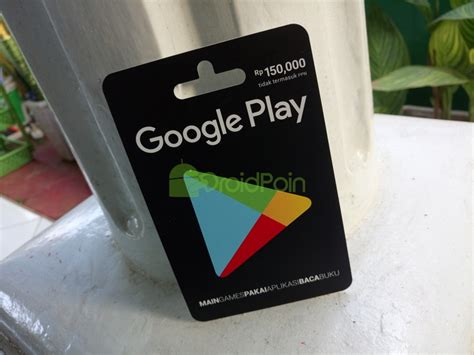 Play Gift Card Rp 150 000 cara redeem play gift card via web droidpoin