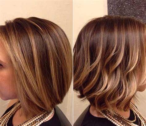 Short Bob Haircut With Highlights