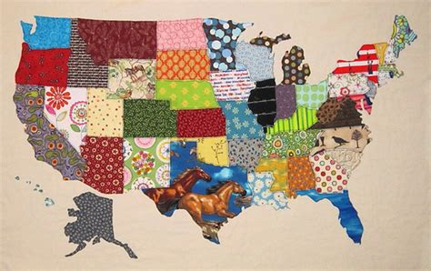 United States Quilt by Usa Patchwork Map Quilt Pattern Diy Usa Map United States