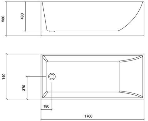 baignoire largeur 65 baignoire ilot rectangulaire 170x74 cm acrylique kobo