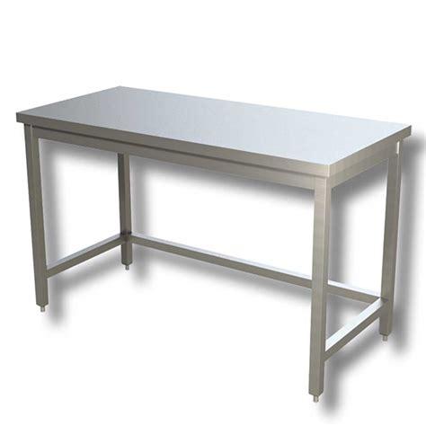 tavolo da lavoro in acciaio ristopro tavolo da lavoro in acciaio su gambe cod 5112