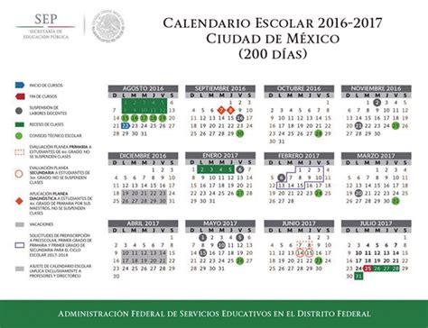 Calendario Oficial 2017 Mexico Calendario Escolar 2016 2017 Administraci 243 N Federal De