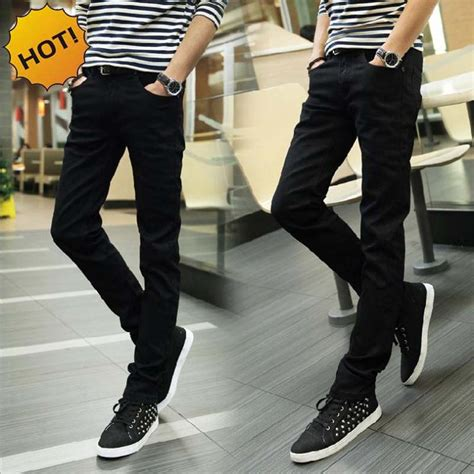 Celana Katun Twill Pencil Ch08 fashion 2016 indoor casual black teenagers pencil stretch casual leg