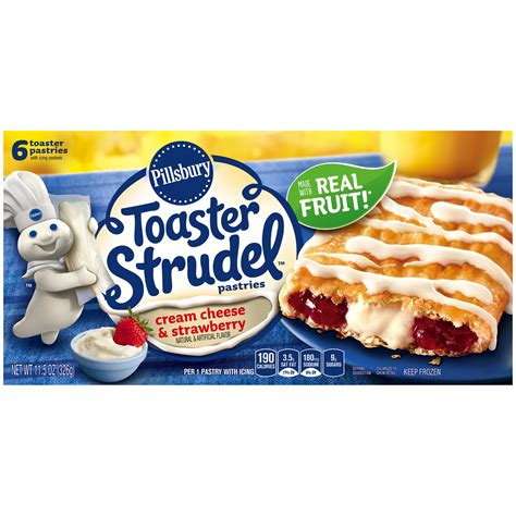 Toaster Strudel Icing Ingredients Pillsbury Toaster Strudel Cream Cheese Amp Strawberry