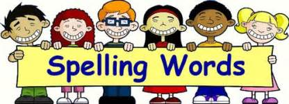Below is a list of weekly spelling words for the 2014 2015 school year