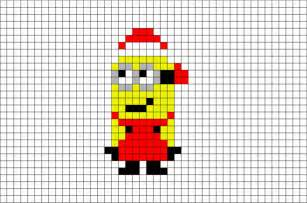 christmas minion pixel art brik