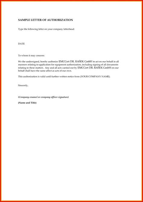 authorization letter format for prc sle authority letter to collect certificate new prc