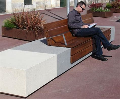 escofet bench escofet longo cast stone and wood bench marshalls