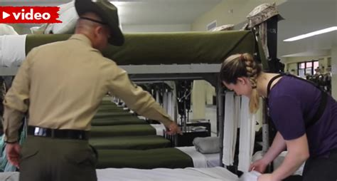 how to make a bed military style u s marine tries to teach reporter how to make a military