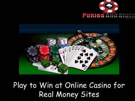 How To Win Real Money Online - play to win at online casino for real money sites