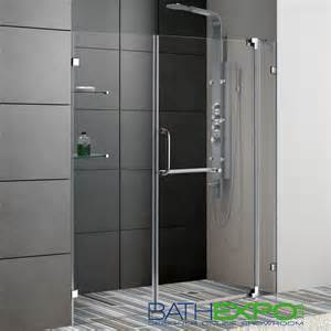 vigo 66 inch frameless shower door 3 8 quot clear glass chrome