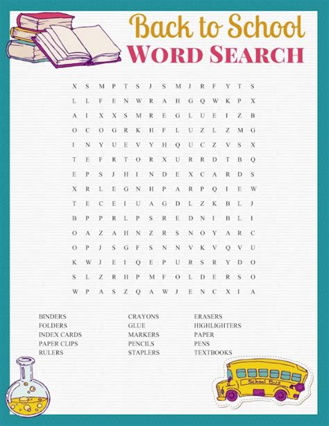 printable word search about school free printable word search back to school inspired fun