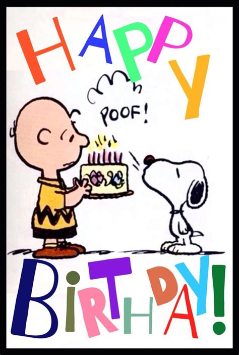 happy birthday images snoopy quot happy birthday quot from charlie brown and snoopy