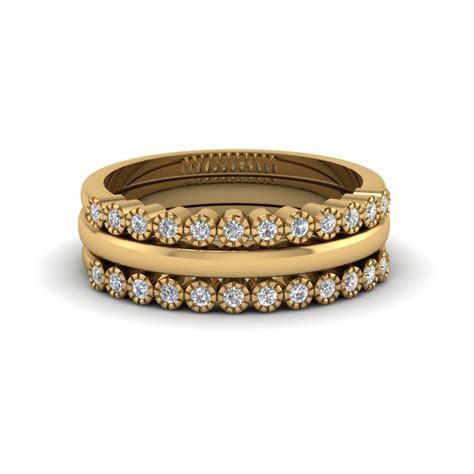 stackable milgrain wedding ring fascinating diamonds