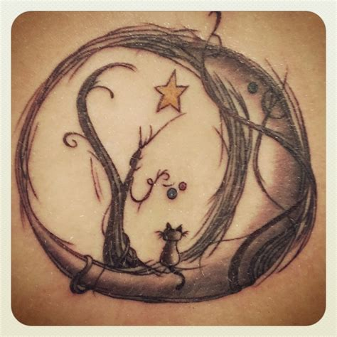 cat and moon tattoo 91 moon tattoos that are out of this world