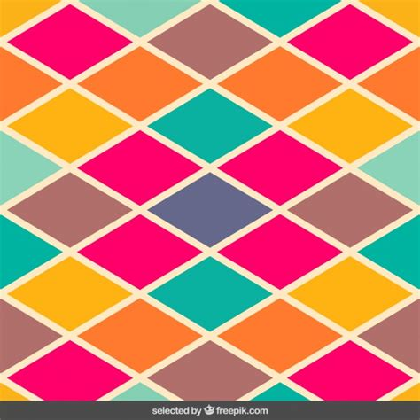 ai pattern color vintage colors rhombus pattern vector free download