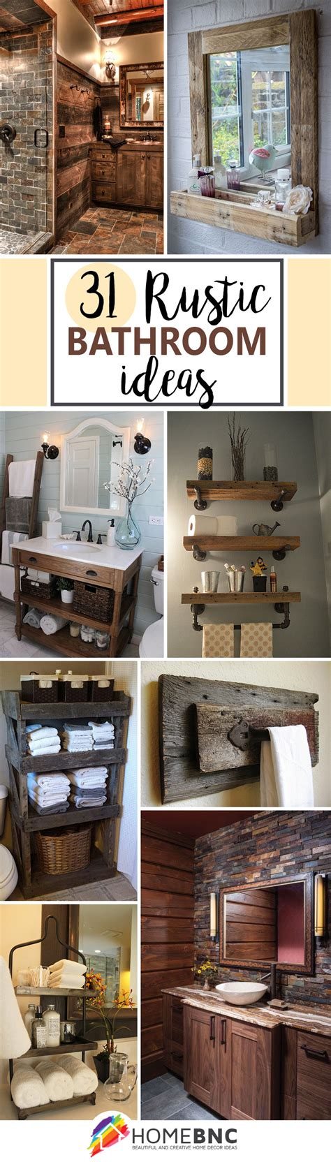 bathroom home decor 31 best rustic bathroom design and decor ideas for 2017