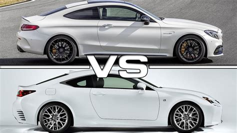 2017 lexus rc 200t 2017 mercedes amg c63 s coupe vs 2016 lexus rc 200t f